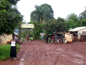The village centre after the rain